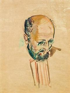 Kresba Antona Faistauera vodovými barvami na papíře ho zachytila v roce 1922
