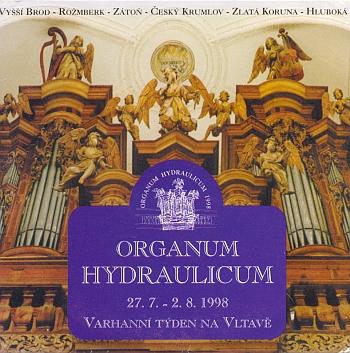 """Varhany Abrahama Starka (1659-1709) ve Zlaté Koruně na přebalu CD k """"Organum hydraulicum - Varhannímu týdnu na Vltavě"""" v roce 1998 (vydal KRÁKOREC ART HISTORY jako přílohu jihočeského programového časopisu Jih)"""