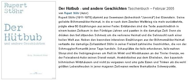 Anonce jeho knihy (2005), vydané v Münsteru nakladatelstvím Monsenstein und Vannerdat, na stránkách internetového knihkupectví Amazon