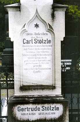 Hrob Carla Antona Stölzleho v dolnorakouském městysi Brand-Nagelberg