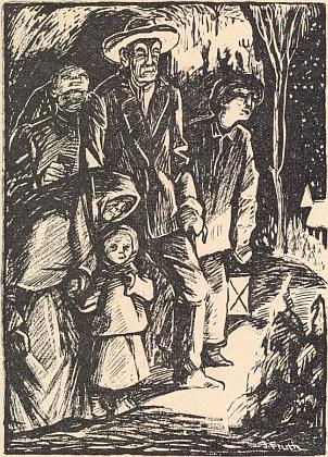 Cesta na půlnoční - grafika Josefa Frutha