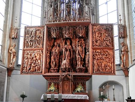 Křídlový oltář v Kefermarktu, o jehož záchranu se zasloužil Adalbert Stifter