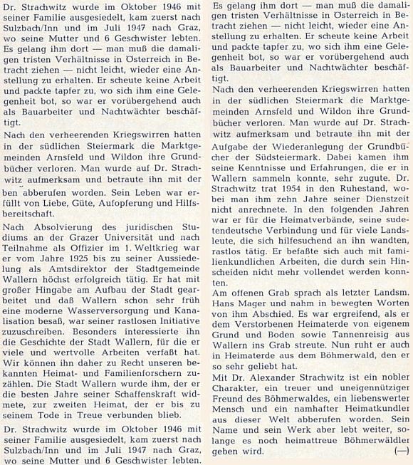 ... a nekrolog v krajanském časopise