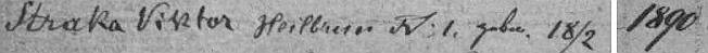 Záznam v indexu matriky farní obce Hojná Voda svědčí o datu jeho narození, matrika sama není dostupná