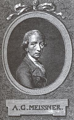 "August Gottlieb Meissner, jehož předmluvu ke hře ""Der Schachspieler"" Strass rovněž neopomenul"