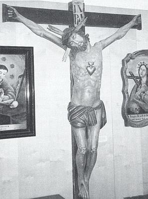 Krucifix z usedlosti zv. Balthas-Hof ve Stodůlkách (majitel Johann Nepomuk Schmidt) ve sbírkách muzea Šumavy v Kašperských Horách
