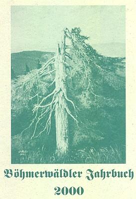 Obraz ošlehaného smrku na šumavské hranici na obálce krajanského kalendáře