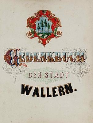 Podpis jeho otce Adolfa rytíře von Streeruwitz ve volarské pamětní knize