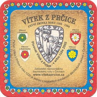 Pečeť a znaky Vítkovců na tácku pivovaru Vítek z Prčice