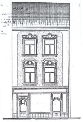 Rodný dům v Jihlavě, jak vypadal někdy v roce 1910