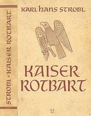 """Obálka (1945), kterou stejně jako ke Stroblovým pamětem níže vytvořil vídeňský výtvarník Willi Bahner, zdobí román, vyšlý ještě v posledním roce války rovněž v nakladatelství """"Moldavia"""", Othmar Reitterer & Co., Budweis"""