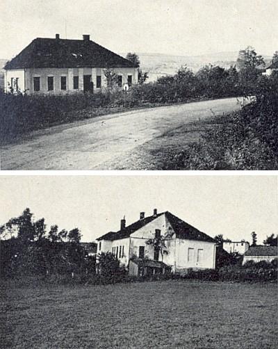 Škola v Záhoří zepředu i zezadu na snímcích z října 1967