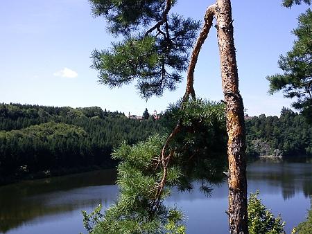 Pohled od hradu na Velešín