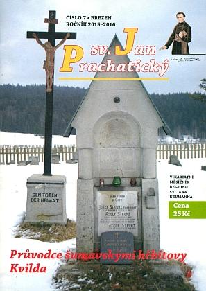Tady se náhrobek rodiny Strunzovy ocitl na snímku na obálce časopisu Svatý Jan Prachatický