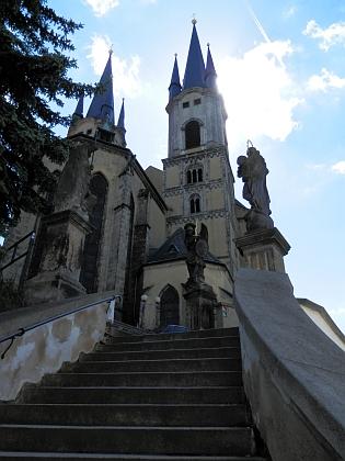 Chebský kostel sv. Mikuláše, kde byl pokřtěn
