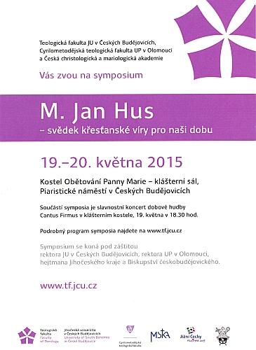 Pozvánka na českobudějovické symposium k 500. výročí Husovy mučednické smrti