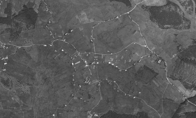 ... a v leteckém záběru z roku 1949