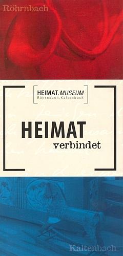 """Prospekt domovského muzea někdejších """"Kaltenbašských"""" vRöhrnbachu"""