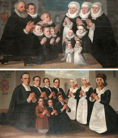 Votivní obrazy původní rodiny Strzisků z let 1585 a 1635 byly původně umístěny vděkanském kostele, dnes jsou v městském muzeu