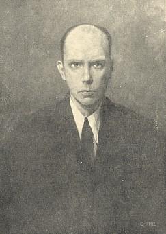 Na portrétu od malíře Otto Freie