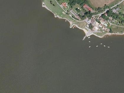 Dolní Vltavice (viz i Johann Studener) na leteckých snímcích z let 1952 a 2008