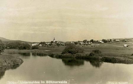 Dolní Vltavice na pohlednici firmy Josef Seidel