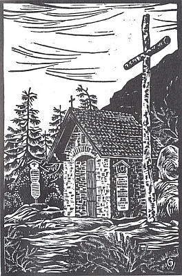 Kaple na Javoru na dřevorytu Waltera Grössla...