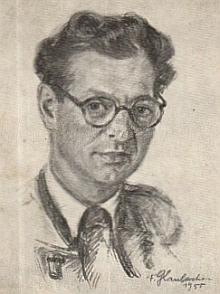 Na kresbě Franze Glaubackera (1896-1974) z roku 1955