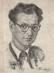 Na kresbě Franze Glaubackera (1896-1974) zroku 1955