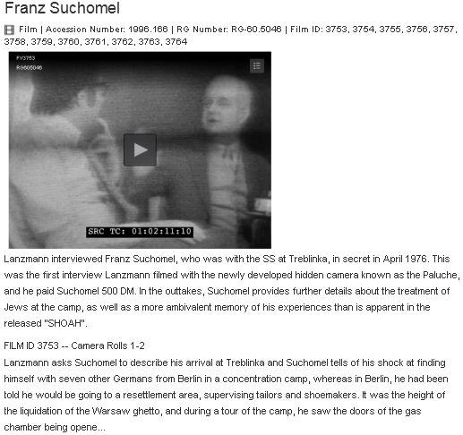 Stránky archivu s interview s ním z března 1976