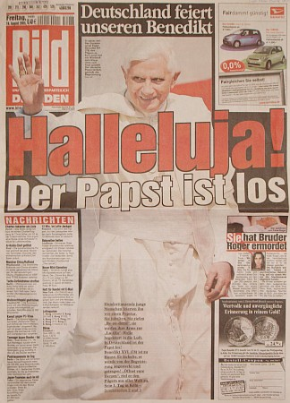"""Takto vítalo v roce 2005 Německo """"svého"""" papeže"""