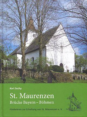 Obálka (2009) jeho knihy o záchraně kostela vMouřenci - v jedné verzi s portrétem posledního zdejšího faráře,     jímž byl páter Andraschko (Förderkreis zur Erhaltung von St. Maurenzen, Mnichov)