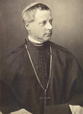 Kardinál Bedřich Schwarzenberg, jehož připomíná mj. pamětní kámen na vrcholu Boubína, na působivém snímku z archivu ve štýrském Murau