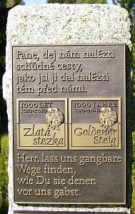 Tady vstupovala Zlatá stezka na české území