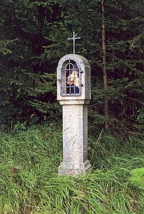 Boží muka u Českých Žlebů na snímku zroku 2009