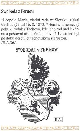 Rodový erb s datem získání šlechtického titulu jeho předkem