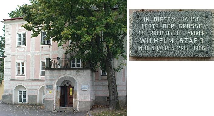 Dům ve Weitře, ve kterém žil po druhé světové válce (viz i Ignaz Franz Castelli)