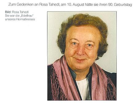 """K nedožitým devadesátinám a k prvému výročí úmrtí vyšel její portrét na obálce krajanského měsíčníku s textem """"Byla urozenou paní našeho kruhu"""""""