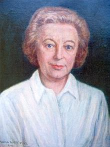 Na obraze Helmy Flügel-Fritschové, roz. Kösslové z roku 2003...