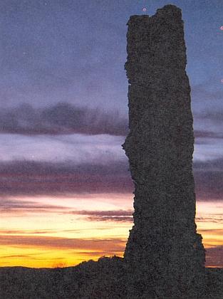 Chatrné zbytky hradu Runding