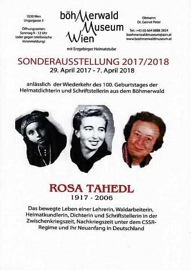 Plakát k výstavě u příležitosti 100. výročí jejího narození ve vídeňském Šumavském muzeu, k níž jsem přispěl svými překlady z jejího díla
