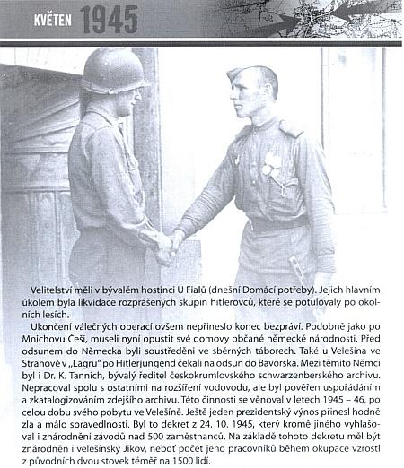 """Velešín nezapomíná... - v pamětní publikaci k výročí konce druhé světové války se objevuje i jeho jméno v souvislosti s """"odsunem"""""""
