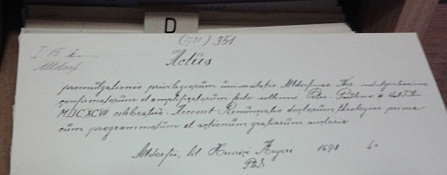 Katalogizoval zámeckou knihovnu v Českém Krumlově