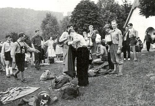 Stanový tábor mladých v prvých poválečných letech pod jeho vedením