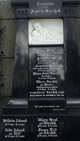 ... na novějším snímku (2013) jsou doplněna jména Wilhelma Johanneka  a jeho manželky
