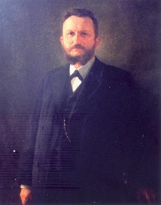 Oficiální portrét z budějovické radnice, dnes ve sbírkách Jihočeského muzea - olej na plátně formátu 104x83 cm pochází zroku 1905 a namaloval ho vídeňský malíř Emil Czech
