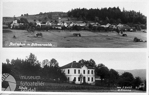 Seidelova pohlednice Račína (viz i Frieda Reisinger-Knöllová)