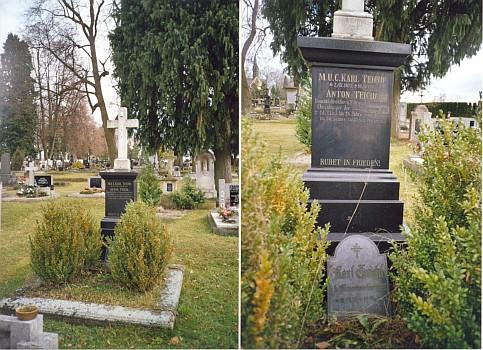 Teichlův hrob v Nových Hradech