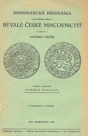 Obálky dvou jeho numismatických prací (1934 a 1937)