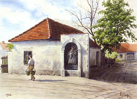 Další dva jeho obrazy zobrazují partie ze Staroměstské ulice